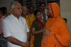 Karnataka CM BSY with Swamiji