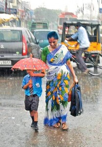 Mother at Rain