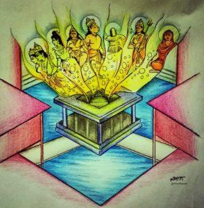 ಸಪ್ತ ಸನ್ನಿಧಿ || ಪರಿಕಲ್ಪನೆ: ಶ್ರೀಶ್ರೀಗಳವರು. ಚಿತ್ರರೂಪ: ನೀರ್ನಳ್ಳಿ ಗಣಪತಿ